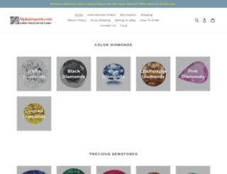 alphagemstones.com screenshot