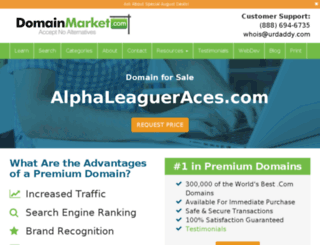 alphaleagueraces.com screenshot