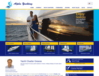 alphayachting.com screenshot