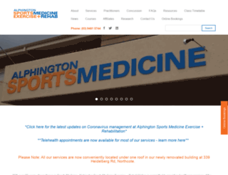 alphingtonsportsmed.com.au screenshot