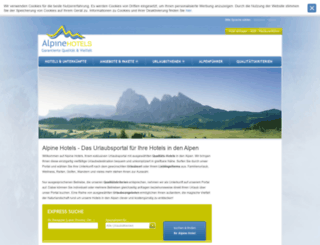 alpine-hotels.com screenshot