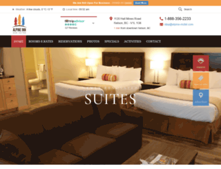 alpine-motel.com screenshot