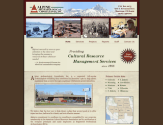 alpinearchaeology.com screenshot
