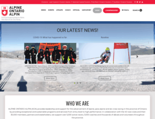 alpineontario.ca screenshot