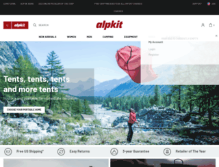 alpkit.com screenshot