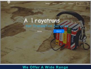alrayatrans.com screenshot