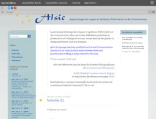 alsic.u-strasbg.fr screenshot