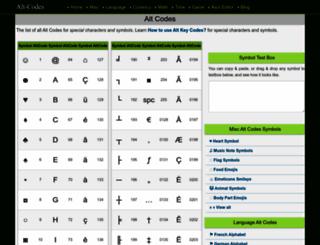 alt-codes.net screenshot