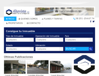 altavistainmobiliaria.net.ve screenshot