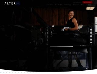 alter-g.com screenshot