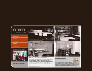 altima-kitchens.com screenshot