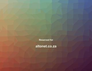 altonet.co.za screenshot