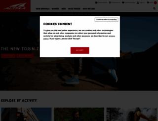 altrarunning.com screenshot