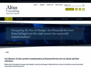 altus.co.uk screenshot