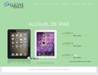 aluguetabletssp.com.br screenshot