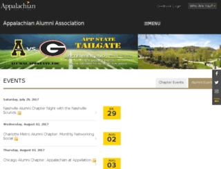 alumni.appstate.edu screenshot