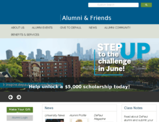alumni.depaul.edu screenshot