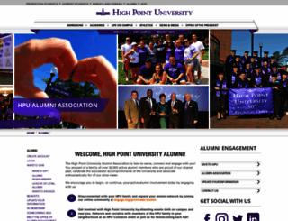 alumni.highpoint.edu screenshot