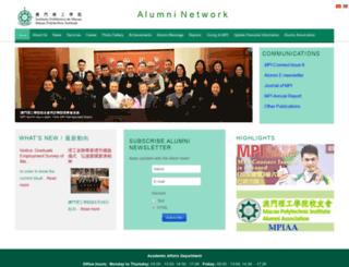 alumni.ipm.edu.mo screenshot