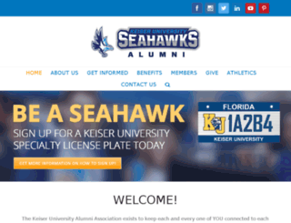 alumni.keiseruniversity.edu screenshot