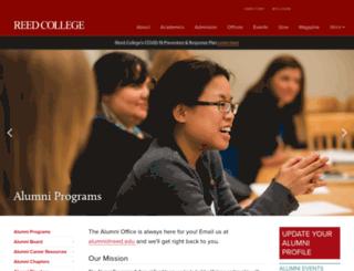 alumni.reed.edu screenshot