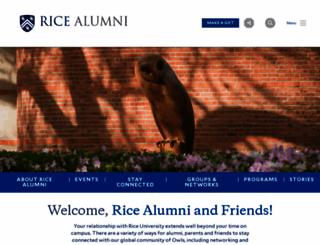 alumni.rice.edu screenshot