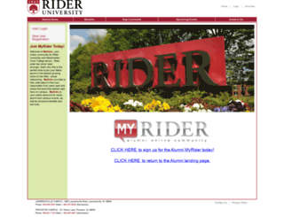 alumni.rider.edu screenshot