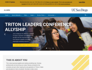 alumni.ucsd.edu screenshot