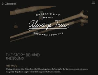 alwaystrue.daddario.com screenshot
