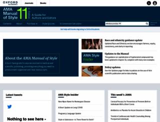 amamanualofstyle.com screenshot