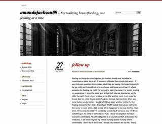 amandajackson09.wordpress.com screenshot