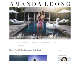 amandaleong.com screenshot