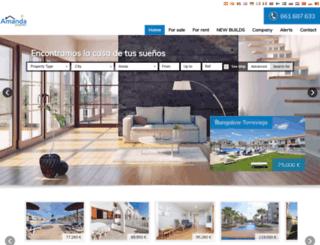 amandaproperties.com screenshot