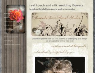 amandarosefloral.com screenshot