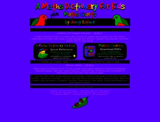 amathsdictionaryforkids.com screenshot