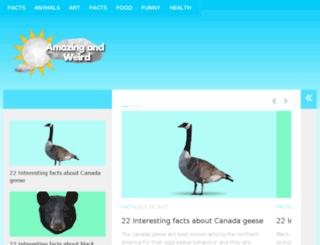 amazingandweird.com screenshot