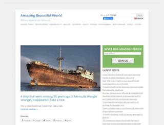 amazingbeautifulworld.com screenshot