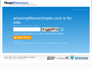 amazinglifecoaching4u.com screenshot
