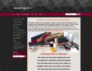 amazingpaper.com.au screenshot