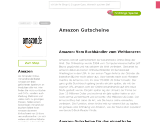 amazon.gutscheincodes.de screenshot