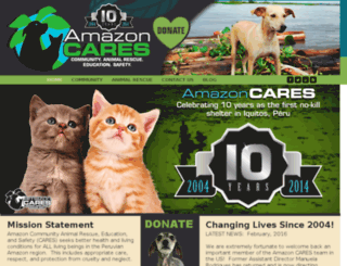 amazoncares.org screenshot
