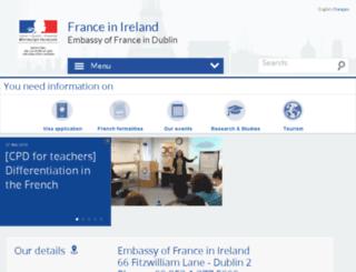 ambafrance-ie.org screenshot