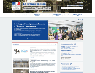 ambafrance-ir.org screenshot