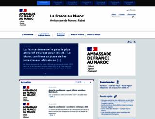 ambafrance-ma.org screenshot