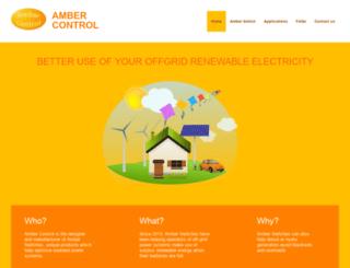 ambercontrol.com screenshot