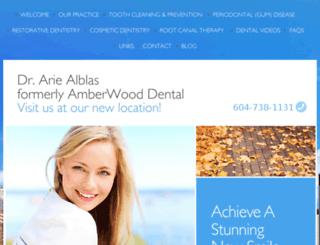 amberwooddental.ca screenshot