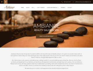 ambiancebeauty.ca screenshot