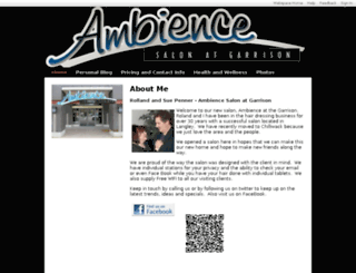 ambiencesalon.shawwebspace.ca screenshot