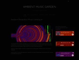 ambientmusicgarden.com screenshot