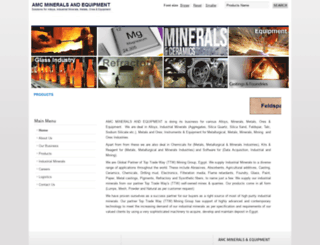 amcminerals.in screenshot